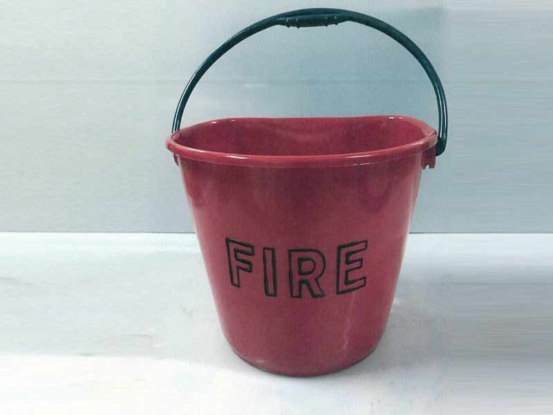 Plastic manufactured fire bucket